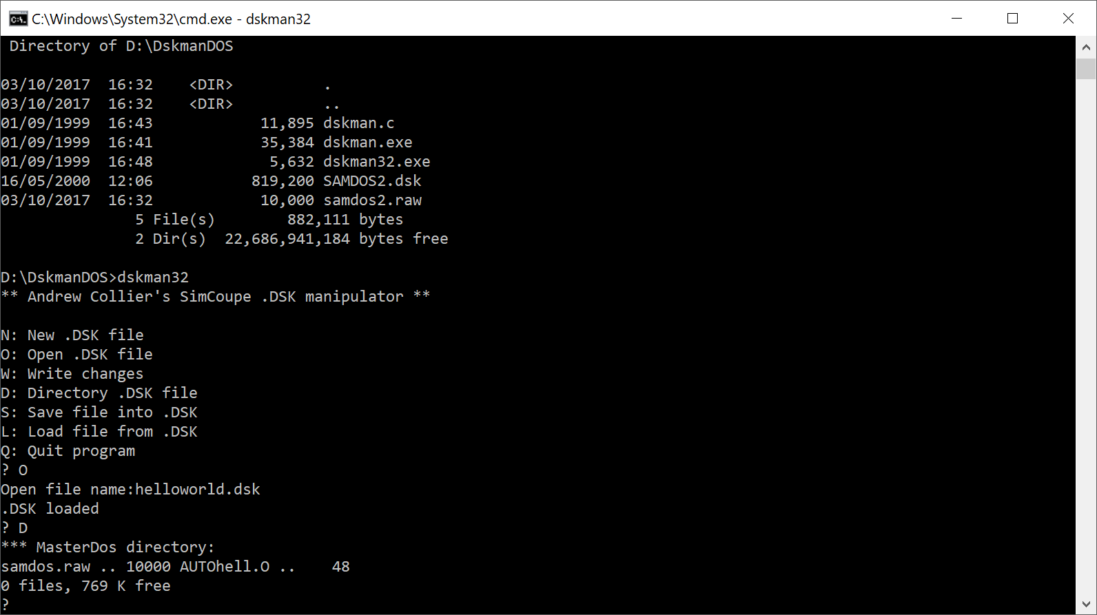Assembly Code Tools - DiskmanDOS - Full Disk