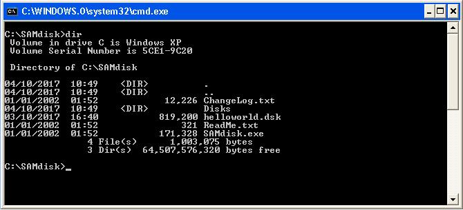 Assembly Code Tools - SAMDisk Directory